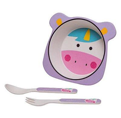 Kit Alimentação Unicórnio - 3 Peças - Girotondo Baby