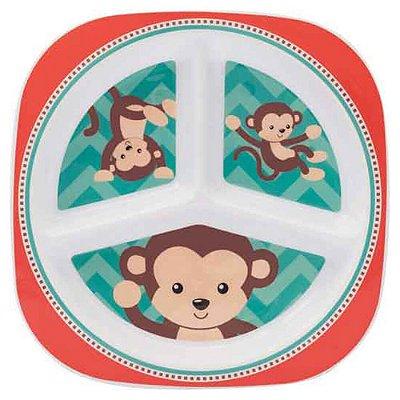Prato com divisória - Macaco - Buba