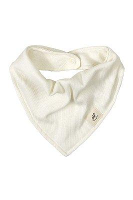 Babador bandana em ribana canelada- Off White - Up Baby