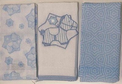 Pano de Boca - Minasrey -  Cavalinho Azul 03 Peças