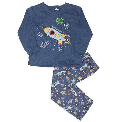 Pijama inverno Foguete - Brilha no escuro - Kiko