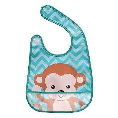 Babador com bolso - Macaco - Buba