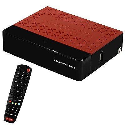Audisat huracan k20 acm/2 lnb/wi-fi/hdmi  - preto/vermelho