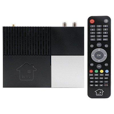 htv h-400 full hd wifi bivolt negro/gris