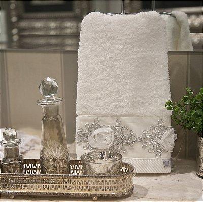 Toalha Lavabo Bride Branca 30 X 50