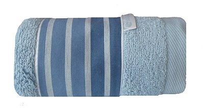 Toalha Lavabo Listrado Azul E Marinho 30 X 50