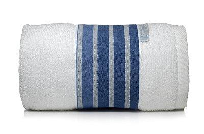 Toalha Lavabo Listrado Marinho E Branca 30 X 50