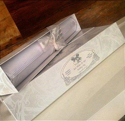 Caixa De Papel Perfumado Com 8 Folhas