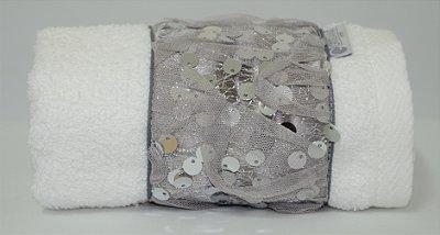 Toalha Lavabo Glamour Prata 30 X 50