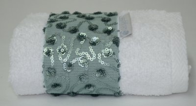 Toalha Lavabo Glamour Celadon  30 X 50