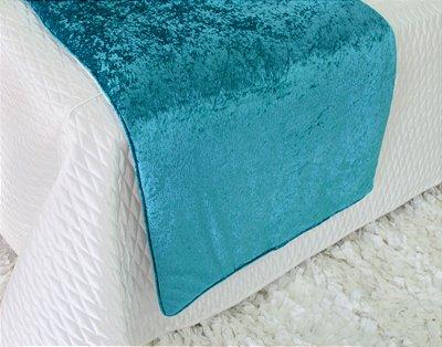 Pezeira Veludo Azul Turquesa 70 X 260