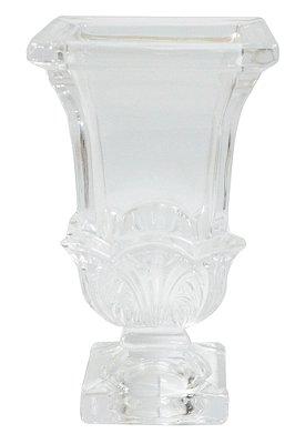 Vaso De Cristal Deco Wolff 10,5 X 10,5 X 18,4
