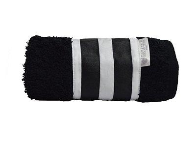Toalha Lavabo Black White Preta