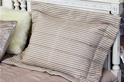 Porta Travesseiro Linho Vazado Fendi 50 X 70