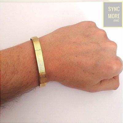 Bracelete com Oração Pai Nosso Banhado a Ouro 18K