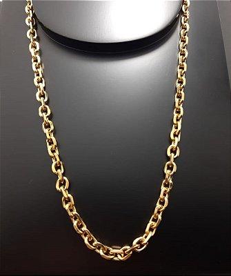 Corrente Cartier Cadeado 80cm 7mm Banhada a Ouro 18K