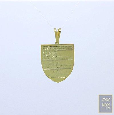 Pingente Escudo Flamengo Banhado a Ouro 18K