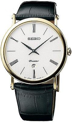 Relogio Seiko Premier Quartz Safira Skp396b1 masculino