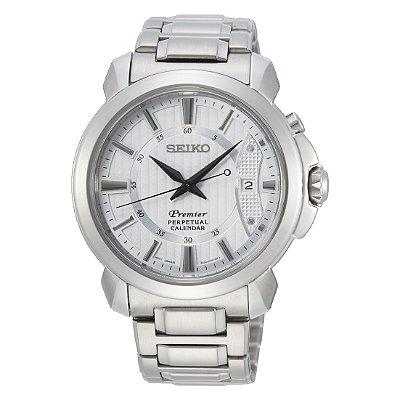 Relógio Seiko Premier Safira Quartz Snq155b1 masculino
