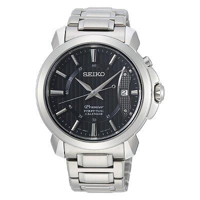 Relógio Seiko Premier Safira Quartz Snq159b1 masculino