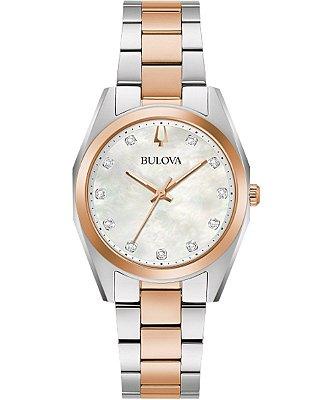 Relógio Bulova Surveyor Diamond 98P207 feminino