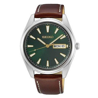 Relógio Seiko Quartz Sur449B1 Safira Masculino