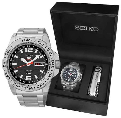 Relogio Seiko 5 Sports Automático  masculino Srp683b1 gift box