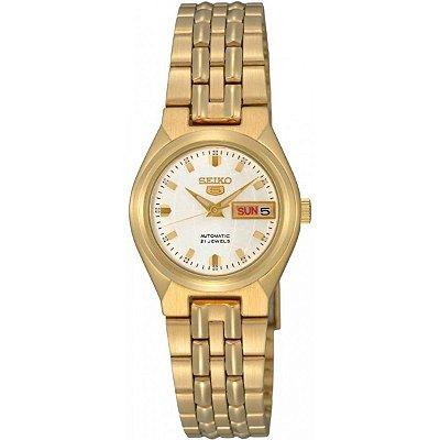 Relógio Seiko 5 Automático Feminino Dourado SYMK46B1
