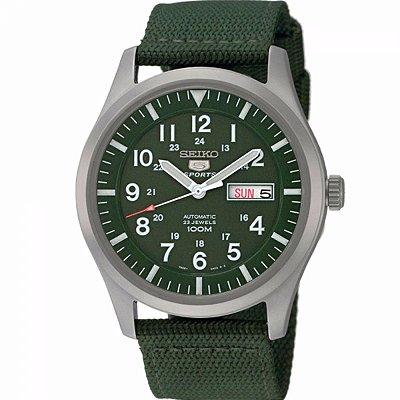 Relogio Seiko 5 Militar Sports Snzg09b1 Militar Verde