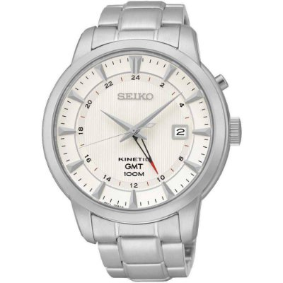 Relogio Seiko KINETIC SUN029B1 GMT Masculino Gift Box