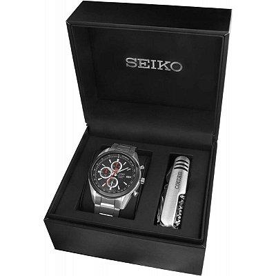 Relógio Seiko cronograph QUARTZ SSB201B1 masculino gift box