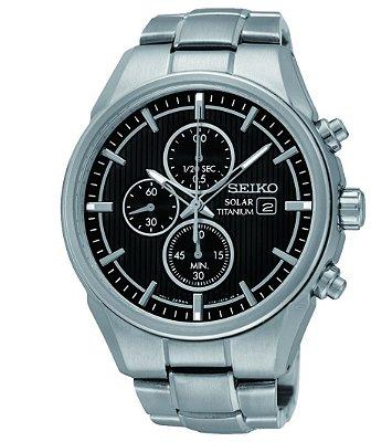 Relógio Seiko Titanium cronograph SOLAR  SSC367B1 Masculino