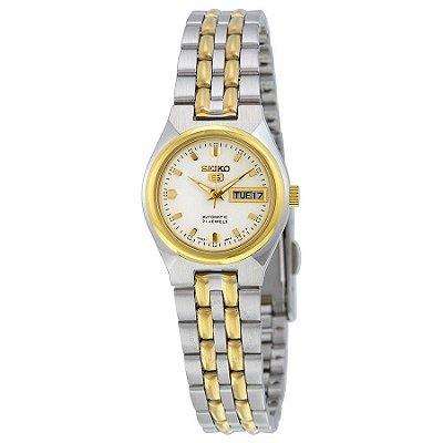 Relógio Seiko 5 Automático Feminino Dourado SYMK44B1