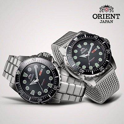 Relogio Orient Automatico 469SS073 masculino Poseidon Preto