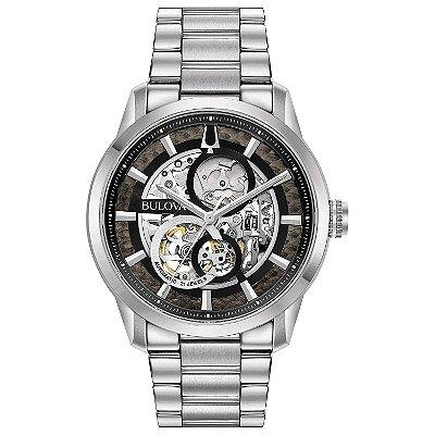 Relógio Bulova Sutton automático 96A208 masculino esqueleto