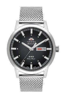 Relogio Orient automatico 469ss085 p1sx masculino prata