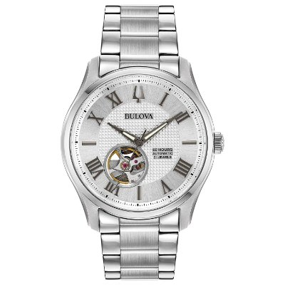 Relógio Bulova Wilton automático 96A207 masculino Safira