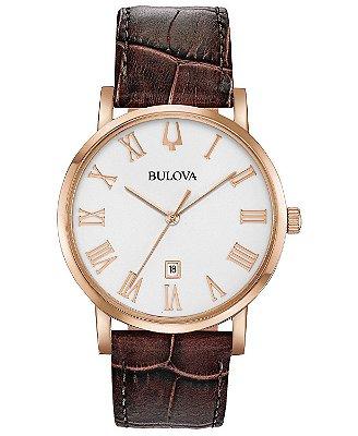 Relógio Bulova Classic American Clipper Quartz 97b184 masculino