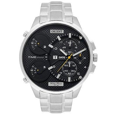 Relógio Orient Xl Masculino Cronógrafo Mbsst003 Prata ** LANÇAMENTO**