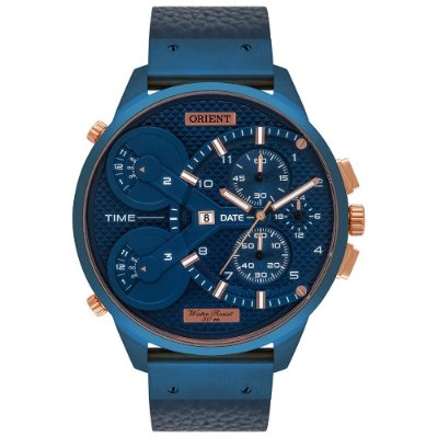 Relógio Orient Xl Masculino Cronógrafo Masct001 Azul ** LANÇAMENTO**