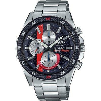 Relógio Casio Masculino Edifice TORO ROSSO Edition Limited Cronógrafo EFR-S567TR-2ADR  *SAFIRA*