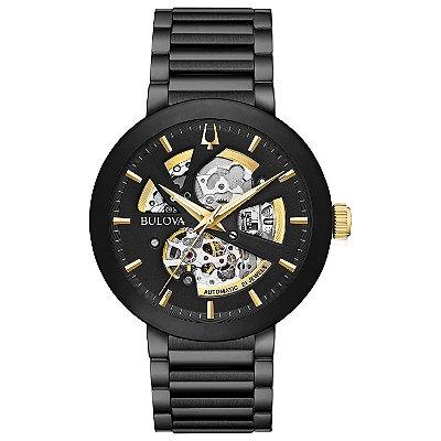 Relógio Bulova Futuro automático 98A203 Esqueleto masculino
