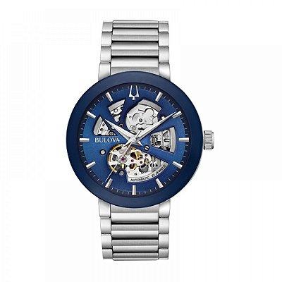 Relógio Bulova Futuro automático 96A204 Esqueleto masculino