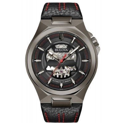 Relógio Bulova Skeleton MACHINE SKULL automático 98A237 masculino