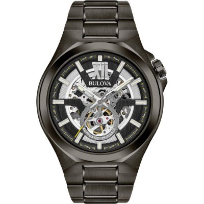 Relógio Bulova Skeleton MACHINE automático 98A179 masculino