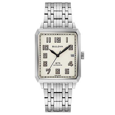 Relógio Joseph Bulova Collection Breton automático 96b333 masculino Edition Limited 350