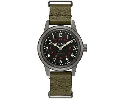 Relógio Bulova Militar Hack automático 98a255 masculino