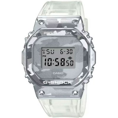 Relogio Casio Gm-5600scm-1dr Metal Covered Skeleton