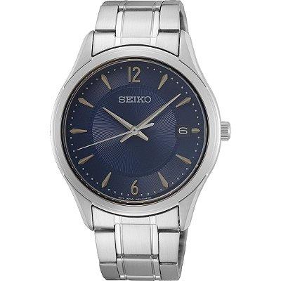 Relógio Seiko Quartz Sur419b1 Safira Masculino