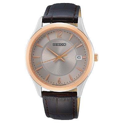 Relógio Seiko Quartz Sur422b1 Safira Masculino